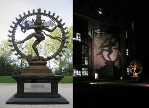 Actual statue of Shiva outside CERN headquarters