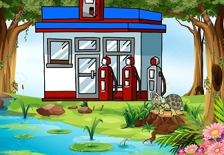 clipart-forest-pond-3
